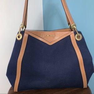 Michael Kors Blue Canvas Shoulder Bag